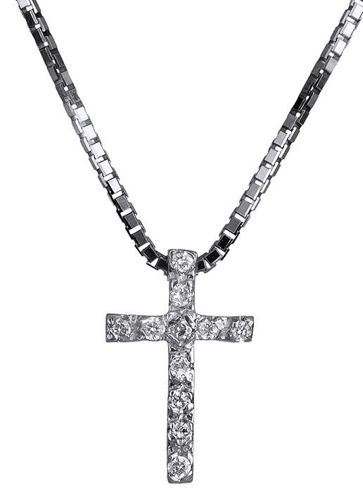 Σταυρός Κ18 με πολύτιμες πέτρες 017312 Χρυσός 18 Καράτια