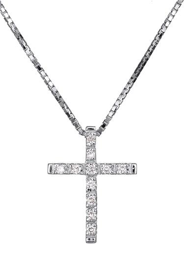 Λευκόχρυσος σταυρός με διαμάντια 017315 Χρυσός 18 Καράτια χρυσά κοσμήματα σταυροί