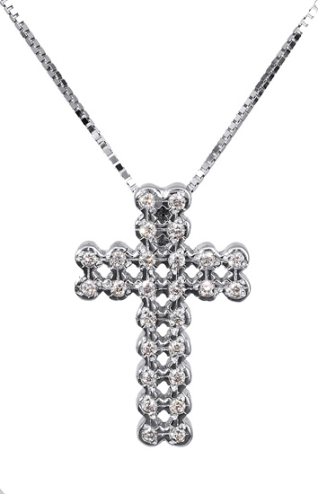 Βαπτιστικοί Σταυροί με Αλυσίδα Διαμαντένιος γυναικείος σταυρός Κ18 017317 Γυναικείο Χρυσός 18 Καράτια