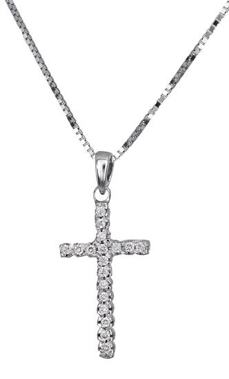Βαπτιστικοί Σταυροί με Αλυσίδα Γυναικείος σταυρός με αλυσίδα 18 καρατίων 017321 Γυναικείο Χρυσός 18 Καράτια