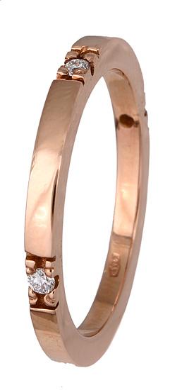 Δαχτυλίδι βέρα ροζ χρυσή 017361 Χρυσός 18 Καράτια