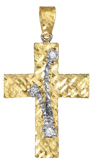 Σταυροί Βάπτισης - Αρραβώνα Γυναικείος Χρυσός σταυρός 017376 017376 Γυναικείο Χρυσός 14 Καράτια