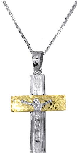 Βαπτιστικοί Σταυροί με Αλυσίδα Ανδρικός σταυρός αρραβώνα c017381 017381C Ανδρικό Χρυσός 14 Καράτια