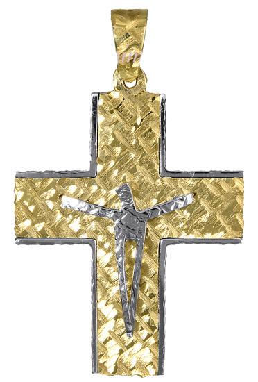 Σταυροί Βάπτισης - Αρραβώνα Μοντέρνος ανδρικός σταυρός 017386 017386 Ανδρικό Χρυσός 14 Καράτια