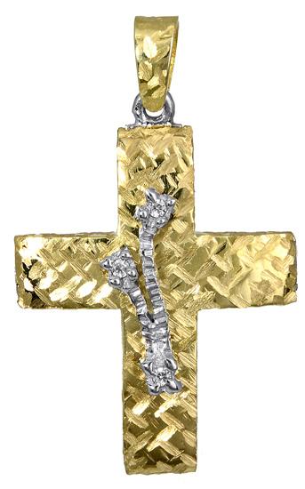 Σταυροί Βάπτισης - Αρραβώνα Γυναικείος χρυσός σταυρός αρραβώνα 017390 017390 Γυναικείο Χρυσός 14 Καράτια
