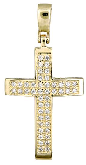 Σταυροί Βάπτισης - Αρραβώνα Χρυσός σταυρός 017413 017413 Γυναικείο Χρυσός 14 Καράτια