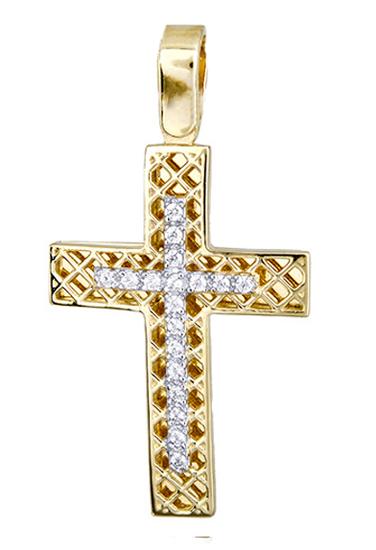 Σταυροί Βάπτισης - Αρραβώνα Γυναικείος χρυσός σταυρός 017416 017416 Γυναικείο Χρυσός 14 Καράτια