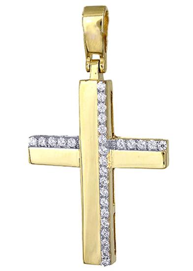 Σταυροί Βάπτισης - Αρραβώνα Σταυρός χρυσός γυναικείος 017418 017418 Γυναικείο Χρυσός 14 Καράτια