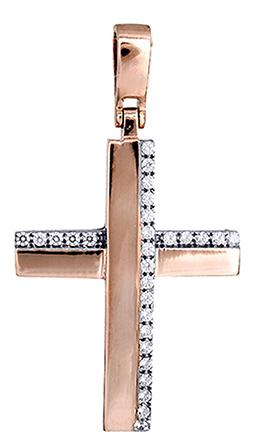 Σταυροί Βάπτισης - Αρραβώνα Ροζ χρυσός γυναικείος σταυρός 017419 017419 Γυναικείο Χρυσός 14 Καράτια