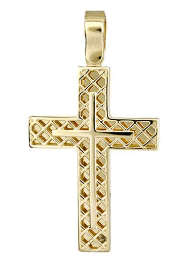 Σταυροί Βάπτισης - Αρραβώνα Χρυσός σταυρός 017420 017420 Ανδρικό Χρυσός 14 Καράτια