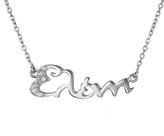 Λευκόχρυση αλυσίδα με το όνομα Ελένη 017426 017426 Χρυσός 14 Καράτια