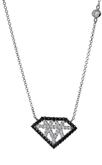 Λευκόχρυσο κολιέ διαμάντι 017470 017470 Χρυσός 14 Καράτια
