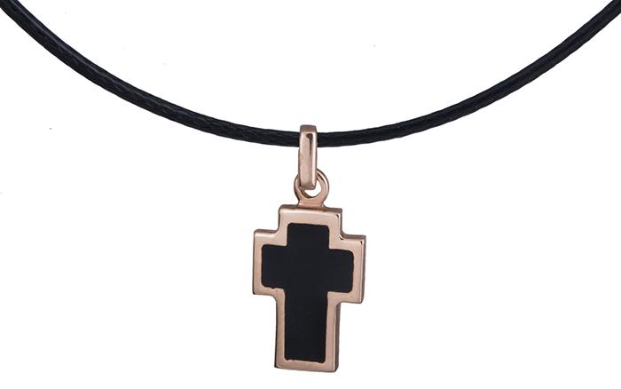 Ροζ χρυσός σταυρός διπλής όψης 017478 017478 Χρυσός 14 Καράτια χρυσά κοσμήματα σταυροί