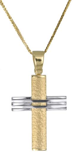 Βαπτιστικοί Σταυροί με Αλυσίδα Ανδρικός χρυσός σταυρός Κ18 c017501 017501C Ανδρικό Χρυσός 18 Καράτια