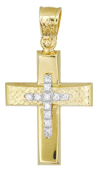 Σταυροί Βάπτισης - Αρραβώνα Γυναικείος σταυρός αρραβώνα 017508 017508 Γυναικείο Χρυσός 14 Καράτια