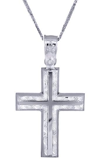 Βαπτιστικοί Σταυροί με Αλυσίδα Ανδρικός σταυρός Κ14 c017522 017522C Ανδρικό Χρυσός 14 Καράτια