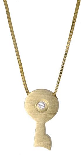 Χρυσό κολιέ με κλειδί 017542 017542 Χρυσός 14 Καράτια