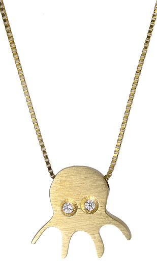 Χρυσό κολιέ με χταπόδι 017544 017544 Χρυσός 14 Καράτια