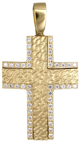 Σταυροί Βάπτισης - Αρραβώνα Γυναικείος σταυρός Κ9 019744 019744 Γυναικείο Χρυσός 9 Καράτια