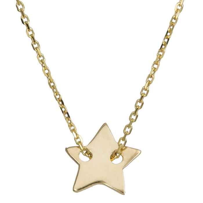 Χρυσό κολιέ αστεράκι 017591 017591 Χρυσός 14 Καράτια