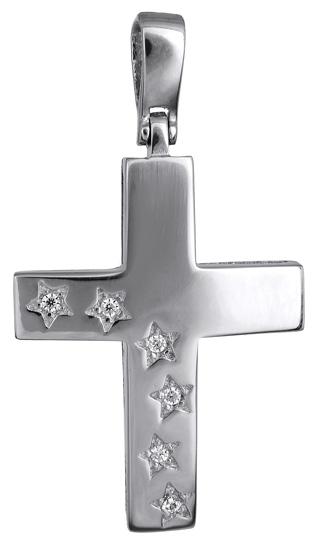Σταυροί Βάπτισης - Αρραβώνα Γυναικείος λευκόχρυσος σταυρός 017593 017593 Γυναικείο Χρυσός 14 Καράτια