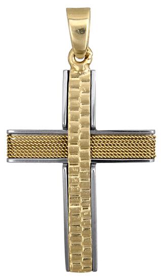 Σταυροί Βάπτισης - Αρραβώνα Σταυρός βάπτισης για αγόρι 017607 017607 Ανδρικό Χρυσός 14 Καράτια