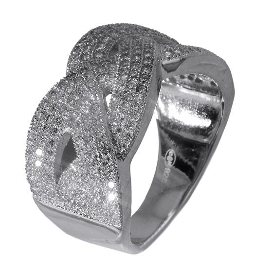 Ασημένιο δαχτυλίδι - σχέδιο πλεξούδας 017643 017643 Ασήμι