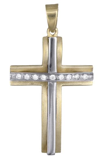 Σταυροί Βάπτισης - Αρραβώνα Γυναικείος σταυρός 017704 017704 Γυναικείο Χρυσός 14 Καράτια
