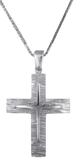 Βαπτιστικοί Σταυροί με Αλυσίδα Ανδρικός σταυρός c017713 017713C Ανδρικό Χρυσός 14 Καράτια
