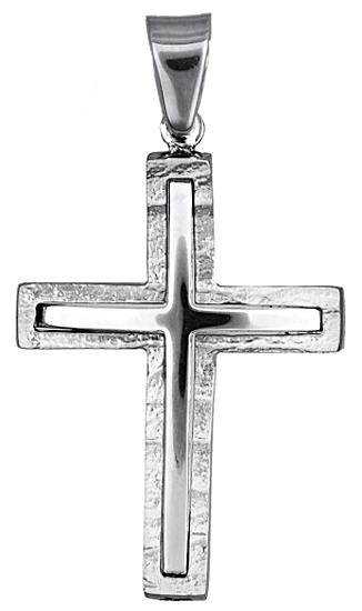 Σταυροί Βάπτισης - Αρραβώνα Λευκόχρυσος σταυρός 017714 017714 Ανδρικό Χρυσός 14 Καράτια