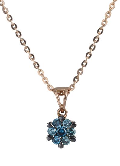 Κολιέ με μπλε διαμάντια 017719 017719 Χρυσός 18 Καράτια