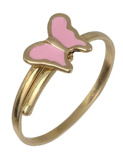 Παιδικό δαχτυλίδι με πεταλούδα 017784 017784 Χρυσός 14 Καράτια