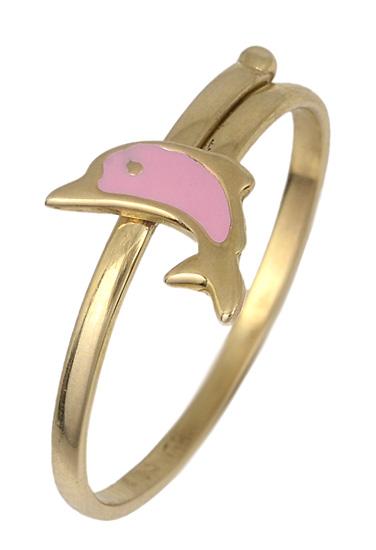 Παιδικό δαχτυλίδι με δελφίνι 017785 017785 Χρυσός 14 Καράτια