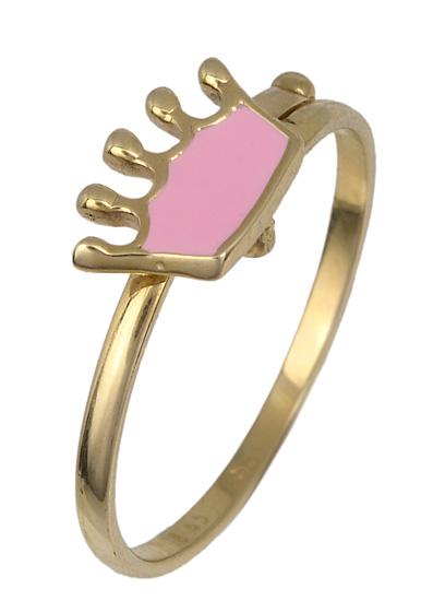 Χρυσό παιδικό δαχτυλίδι κορώνα 017787 017787 Χρυσός 14 Καράτια