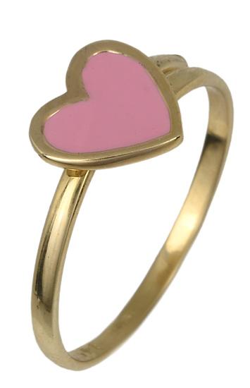 Χρυσό παιδικό δαχτυλίδι καρδιά 017788 017788 Χρυσός 14 Καράτια