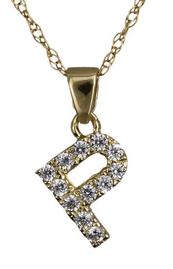Χρυσό μονόγραμμα Ρ 017835 017835 Χρυσός 14 Καράτια