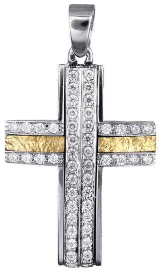 Σταυροί Βάπτισης - Αρραβώνα Γυναικείοι σταυροί με πέτρες ζιργκόν 14Κ 017847 017847 Γυναικείο Χρυσός 14 Καράτια
