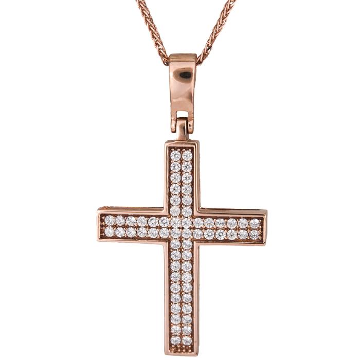 Βαπτιστικοί Σταυροί με Αλυσίδα Βαπτιστικός σταυρός για κορίτσι 14Κ C017878 017878C Γυναικείο Χρυσός 14 Καράτια