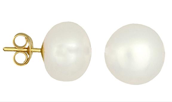 Σκουλαρίκια με μαργαριτάρια 017894 017894 Χρυσός 14 Καράτια χρυσά κοσμήματα σκουλαρίκια καρφωτά