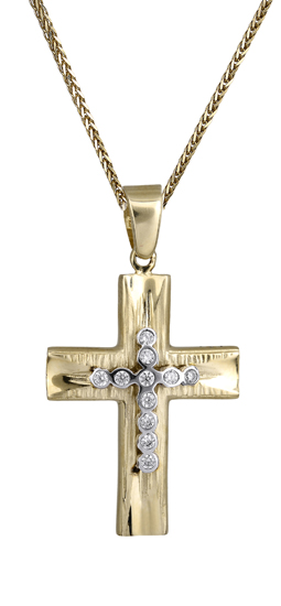 Βαπτιστικοί Σταυροί με Αλυσίδα Γυναικείος σταυρός 14Κ C017925 017925C Γυναικείο Χρυσός 14 Καράτια