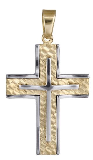 Σταυροί Βάπτισης - Αρραβώνα Αντρικός σταυρός για βάπτιση 017931 017931 Ανδρικό Χρυσός 14 Καράτια