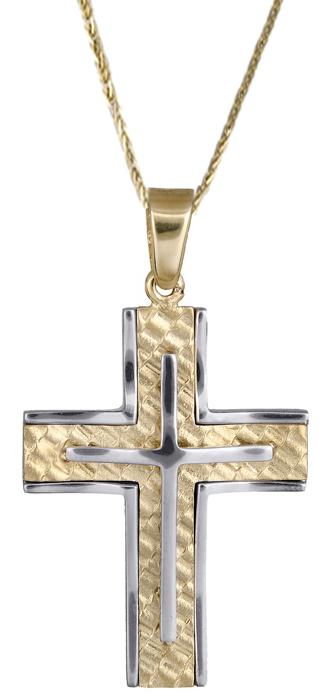 Βαπτιστικοί Σταυροί με Αλυσίδα Σταυροί για άντρες 14Κ C017931 017931C Ανδρικό Χρυσός 14 Καράτια