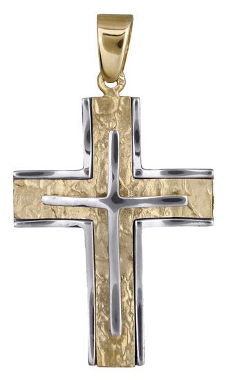 Σταυροί Βάπτισης - Αρραβώνα Αντρικός σταυρός για βάπτιση 017932 017932 Ανδρικό Χρυσός 14 Καράτια