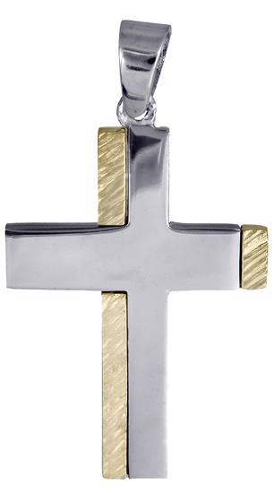 Σταυροί Βάπτισης - Αρραβώνα Αντρικός σταυρός για βάπτιση 018009 018009 Ανδρικό Χρυσός 14 Καράτια