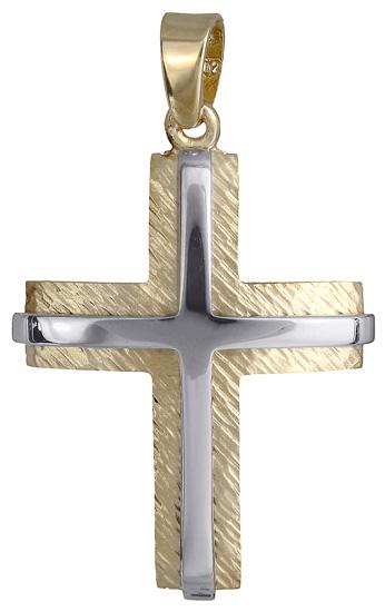 Σταυροί Βάπτισης - Αρραβώνα Βαπτιστικός σταυρός για αγόρι 14Κ 018016 018016 Ανδρικό Χρυσός 14 Καράτια