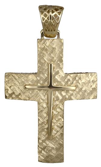 Σταυροί Βάπτισης - Αρραβώνα Χρυσός αντρικός σταυρός 018028 018028 Ανδρικό Χρυσός 14 Καράτια