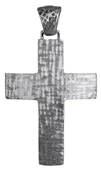 Σταυροί Βάπτισης - Αρραβώνα Λευκόχρυσος αντρικός σταυρός 14Κ 018030 018030 Ανδρικό Χρυσός 14 Καράτια