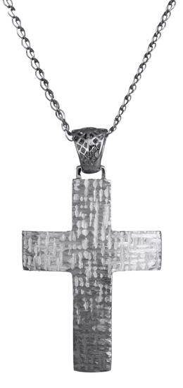 Βαπτιστικοί Σταυροί με Αλυσίδα Σταυρός αντρικός C018030 018030C Ανδρικό Χρυσός 14 Καράτια