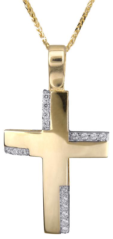 Βαπτιστικοί Σταυροί με Αλυσίδα Σταυρός για κορίτσι 14Κ C018032 018032C Γυναικείο Χρυσός 14 Καράτια