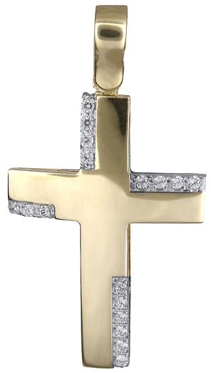 Σταυροί Βάπτισης - Αρραβώνα Σταυρός για κορίτσι 14Κ 018032 018032 Γυναικείο Χρυσός 14 Καράτια